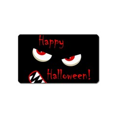 Happy Halloween - red eyes monster Magnet (Name Card)