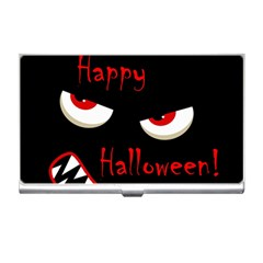 Happy Halloween - red eyes monster Business Card Holders