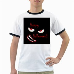 Happy Halloween - red eyes monster Ringer T-Shirts