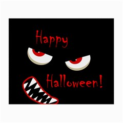 Happy Halloween - red eyes monster Small Glasses Cloth