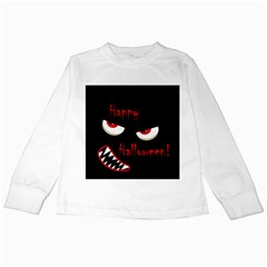 Happy Halloween - red eyes monster Kids Long Sleeve T-Shirts