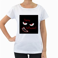 Happy Halloween - red eyes monster Women s Loose-Fit T-Shirt (White)