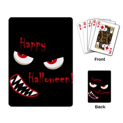 Happy Halloween - red eyes monster Playing Card