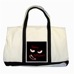 Happy Halloween - red eyes monster Two Tone Tote Bag