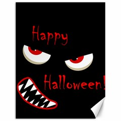 Happy Halloween - red eyes monster Canvas 12  x 16