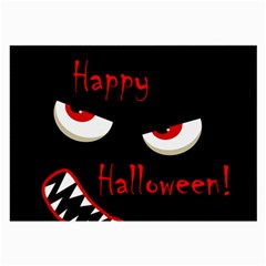 Happy Halloween - red eyes monster Large Glasses Cloth