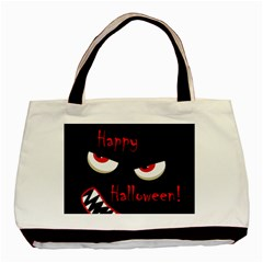 Happy Halloween - red eyes monster Basic Tote Bag (Two Sides)