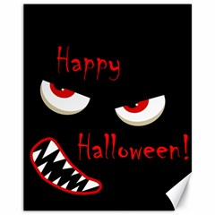 Happy Halloween - red eyes monster Canvas 11  x 14