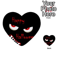 Happy Halloween - red eyes monster Multi-purpose Cards (Heart)