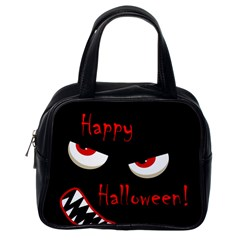 Happy Halloween - red eyes monster Classic Handbags (One Side)