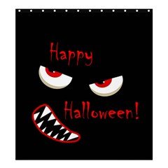 Happy Halloween - red eyes monster Shower Curtain 66  x 72  (Large)