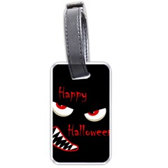 Happy Halloween - red eyes monster Luggage Tags (One Side)