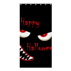 Happy Halloween - red eyes monster Shower Curtain 36  x 72  (Stall)