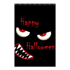 Happy Halloween - red eyes monster Shower Curtain 48  x 72  (Small)