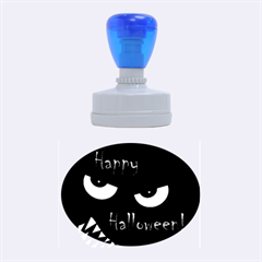 Happy Halloween - red eyes monster Rubber Oval Stamps