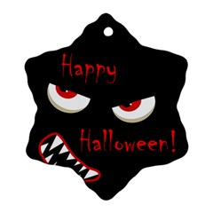 Happy Halloween - red eyes monster Ornament (Snowflake)