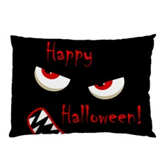 Happy Halloween - red eyes monster Pillow Case (Two Sides)