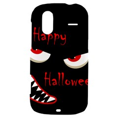 Happy Halloween - red eyes monster HTC Amaze 4G Hardshell Case