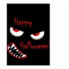 Happy Halloween - red eyes monster Small Garden Flag (Two Sides)