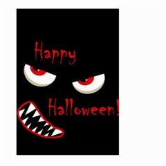 Happy Halloween - red eyes monster Large Garden Flag (Two Sides)