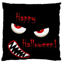 Happy Halloween - red eyes monster Large Cushion Case (One Side)
