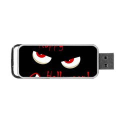 Happy Halloween - red eyes monster Portable USB Flash (One Side)
