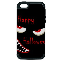 Happy Halloween - red eyes monster Apple iPhone 5 Hardshell Case (PC+Silicone)