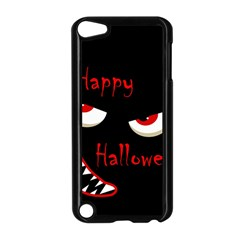Happy Halloween - red eyes monster Apple iPod Touch 5 Case (Black)