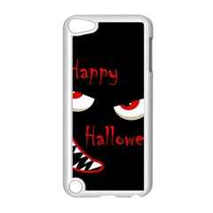 Happy Halloween - red eyes monster Apple iPod Touch 5 Case (White)