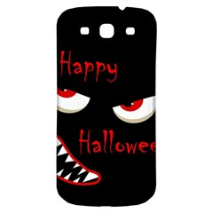 Happy Halloween - red eyes monster Samsung Galaxy S3 S III Classic Hardshell Back Case