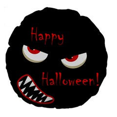Happy Halloween - red eyes monster Large 18  Premium Round Cushions