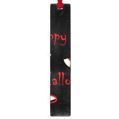 Happy Halloween - red eyes monster Large Book Marks