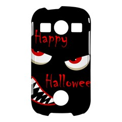 Happy Halloween - red eyes monster Samsung Galaxy S7710 Xcover 2 Hardshell Case