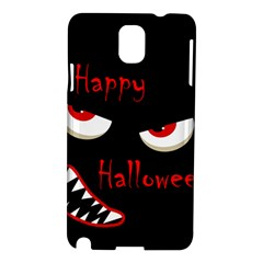 Happy Halloween - red eyes monster Samsung Galaxy Note 3 N9005 Hardshell Case