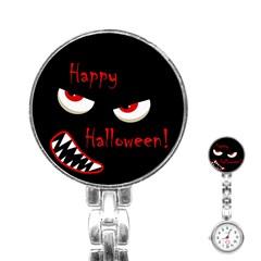 Happy Halloween - red eyes monster Stainless Steel Nurses Watch
