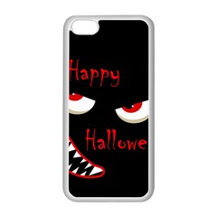 Happy Halloween - red eyes monster Apple iPhone 5C Seamless Case (White)