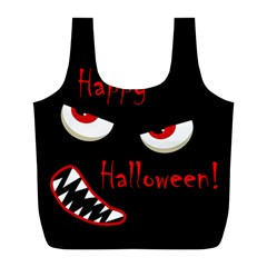 Happy Halloween - red eyes monster Full Print Recycle Bags (L)