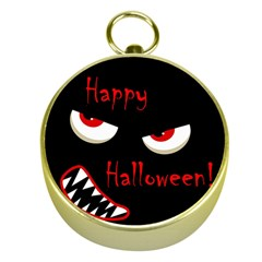 Happy Halloween - red eyes monster Gold Compasses