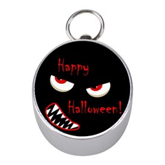 Happy Halloween - red eyes monster Mini Silver Compasses