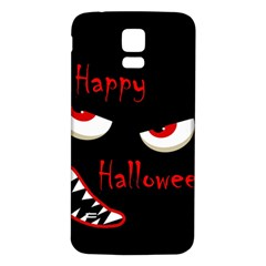 Happy Halloween - red eyes monster Samsung Galaxy S5 Back Case (White)