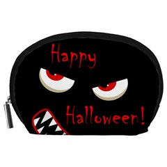 Happy Halloween - red eyes monster Accessory Pouches (Large)