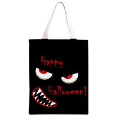 Happy Halloween - red eyes monster Classic Light Tote Bag