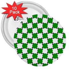 Optical Illusion 3  Buttons (10 Pack)