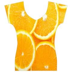 Orange Fruit Women s V-Neck Cap Sleeve Top