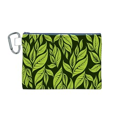 Palm Coconut Tree Canvas Cosmetic Bag (M)
