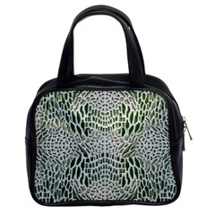 Green Reptile Scales Classic Handbags (2 Sides)