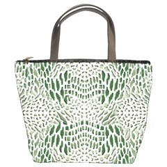GREEN REPTILE SCALES Bucket Bags