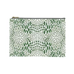 Green Reptile Scales Cosmetic Bag (large)