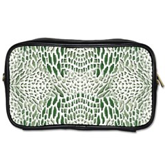 Green Reptile Scales Toiletries Bags 2 Side