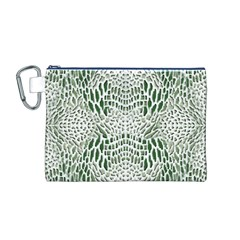 GREEN REPTILE SCALES Canvas Cosmetic Bag (M)
